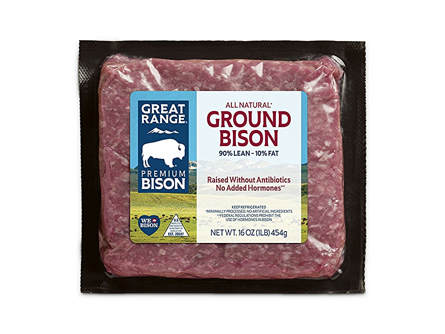 Ground Bison Meat in Packaging