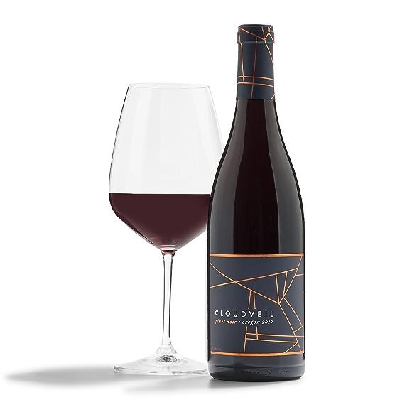 bottle of Cloudveil Pinot Noir wine