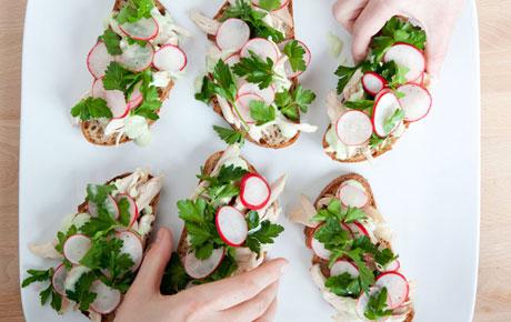 Spring Rotisserie Chicken Sandwiches
