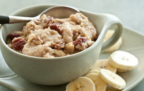 Amaranth Hot Cereal with Cherries and Walnuts