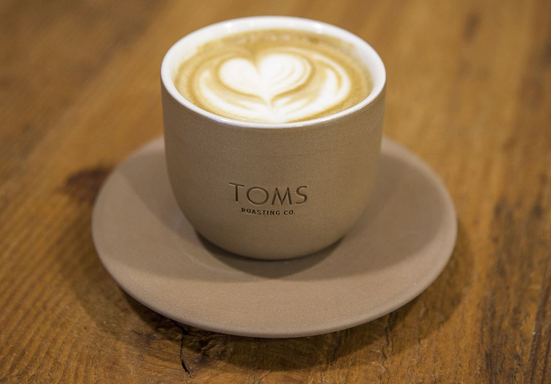 Latte -- TOMS Roasting Co. | Image by TOMS