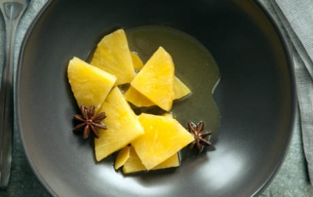 Braised Pineapple with Star Anise and Ginger