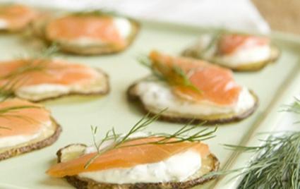 Smoked Salmon and Crème Fraîche-Topped Crispy Potatoes
