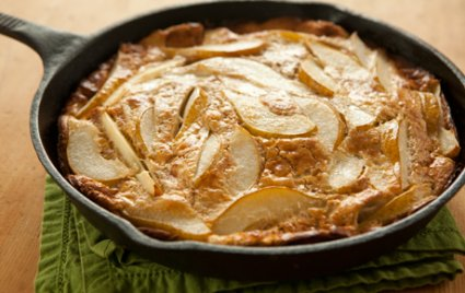 Whole Wheat German Pancake with Pears