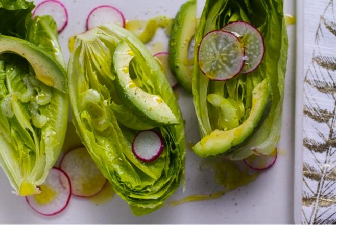 Romaine Heart Salad with Meyer Lemon Vinaigrette – Aida Mollenkamp