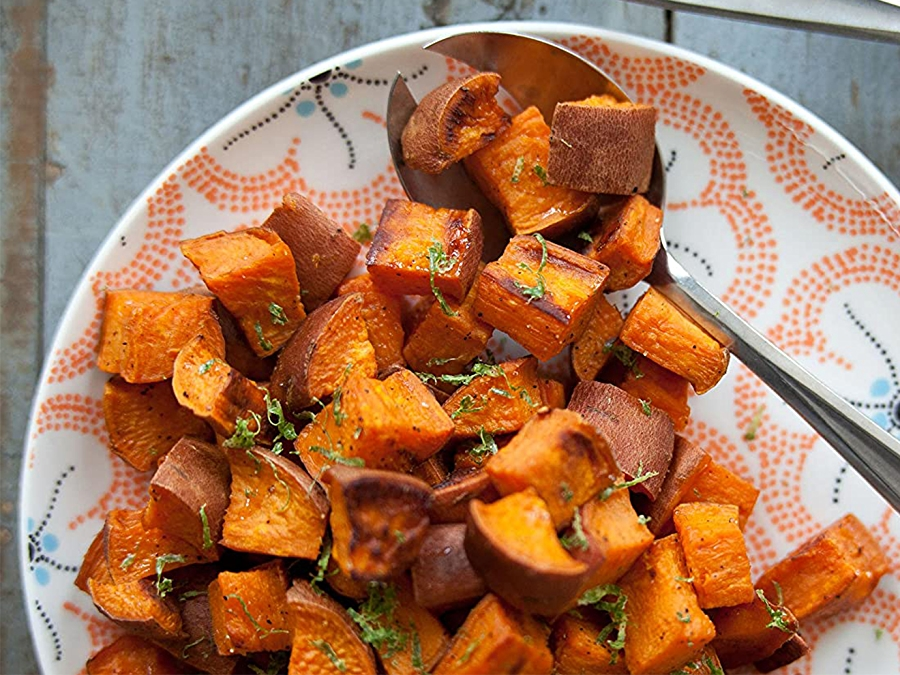 Roasted Coconut Sweet Potato