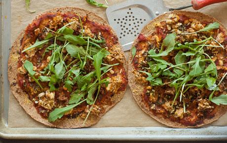 Hearty Arugula Pizzas