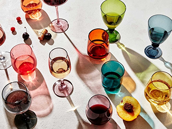 Wine Glasses with berries