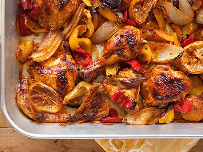 Peruvian-Style Roasted Chicken with Sweet Onions