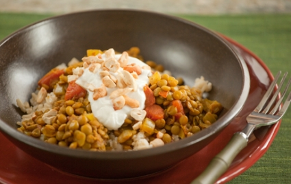 Lentil Curry with Cashews and Yogurt