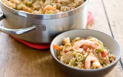 Chicken Sausage Jambalaya with Shrimp