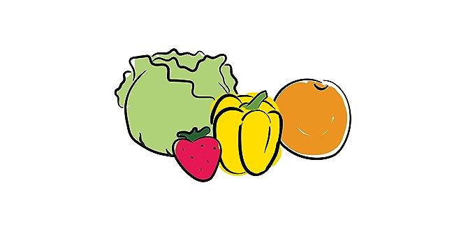 Illustration of produce stored in refrigerator crisper drawers.