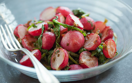 Roasted Radishes with Lemony Herb Butter