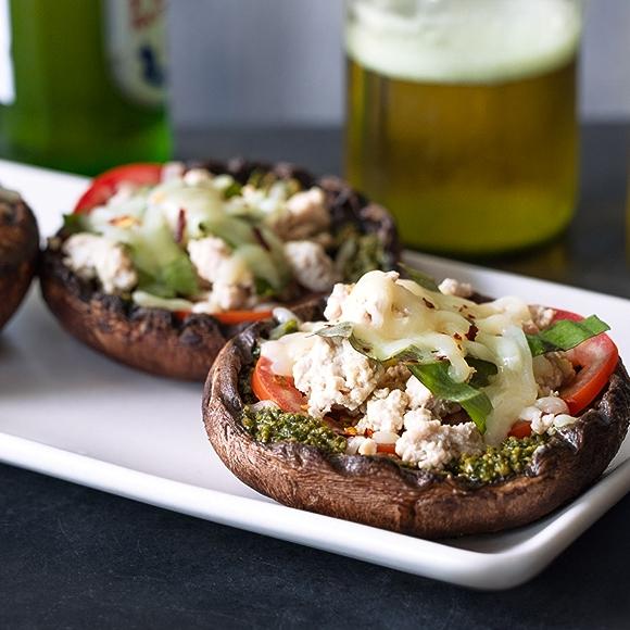 Pizza Style Stuffed Portobello Mushrooms recipe