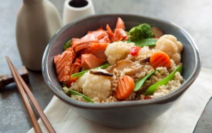 Easy Teriyaki Salmon Rice Bowl