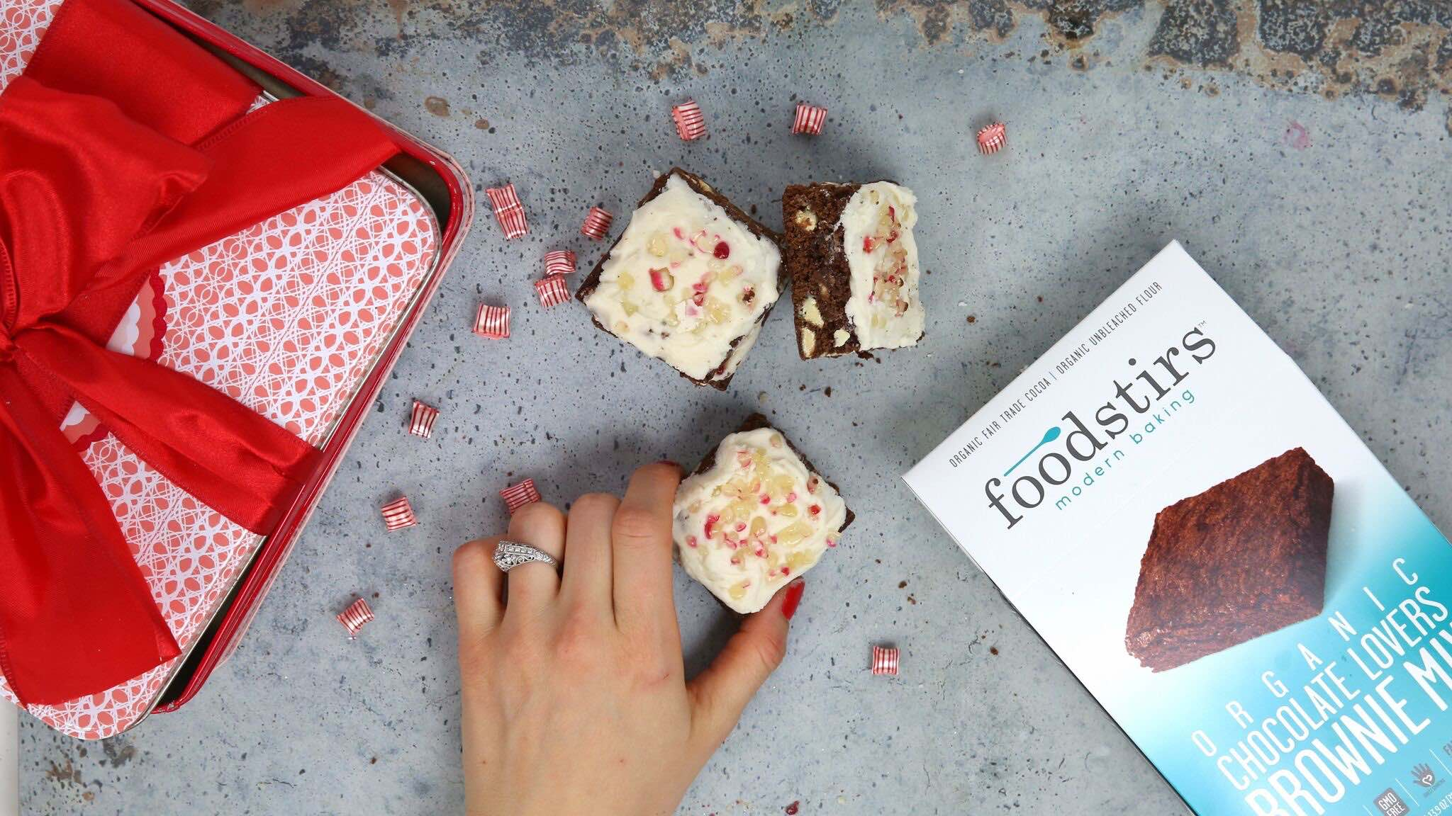 peppermint white mocha brownies foodstirs