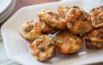 Mini Cajun Shrimp Frittatas