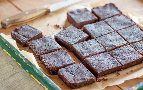 Raw Walnut Brownies
