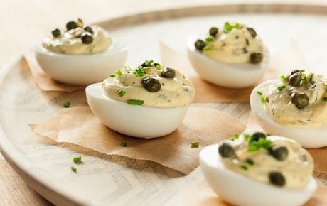 Lemon-Caper Deviled Eggs