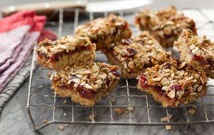 Gluten-Free Cranberry Maple Pear Bars