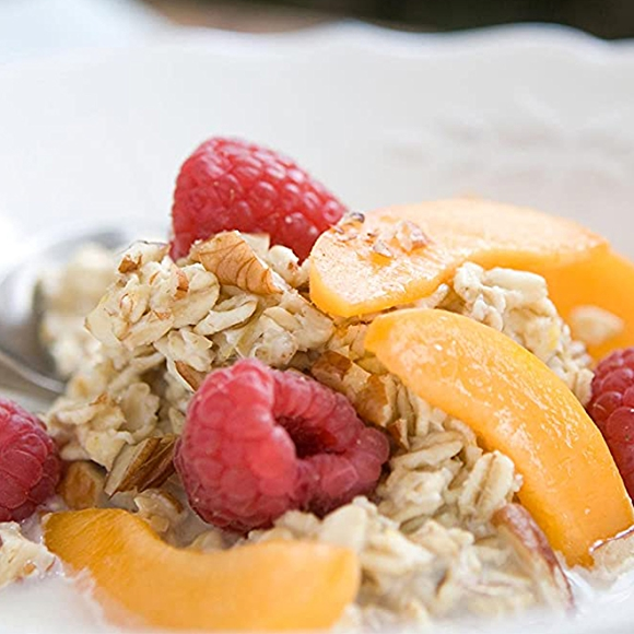 Overnight Oatmeal with fruit on top