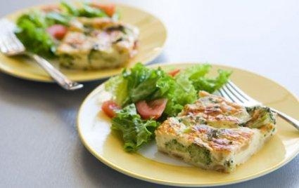 Crustless Broccoli and Onion Quiche