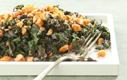 Kale with Honeyed Macadamia Nuts