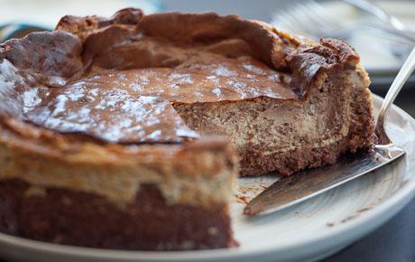 Cappuccino Chocolate Swirl Cheesecake