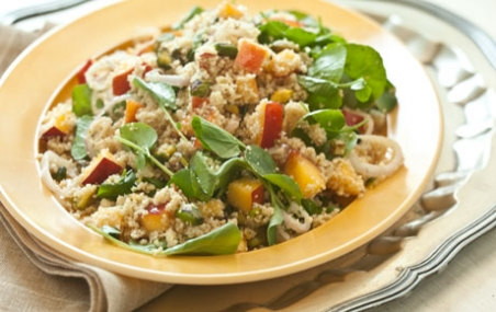 Whole Wheat Couscous with Nectarines and Pistachios