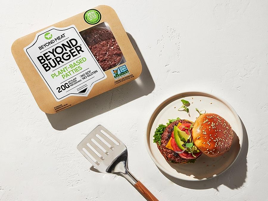 Beyond Burger Meat in Packaging