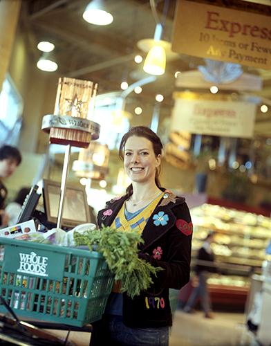 Shopper at Whole Foods Market