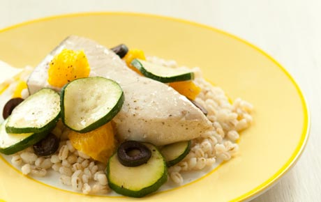 Swordfish with Zucchini and Orange