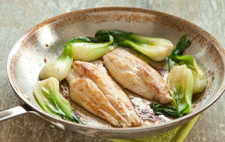 Miso-Glazed Catfish and Bok Choy