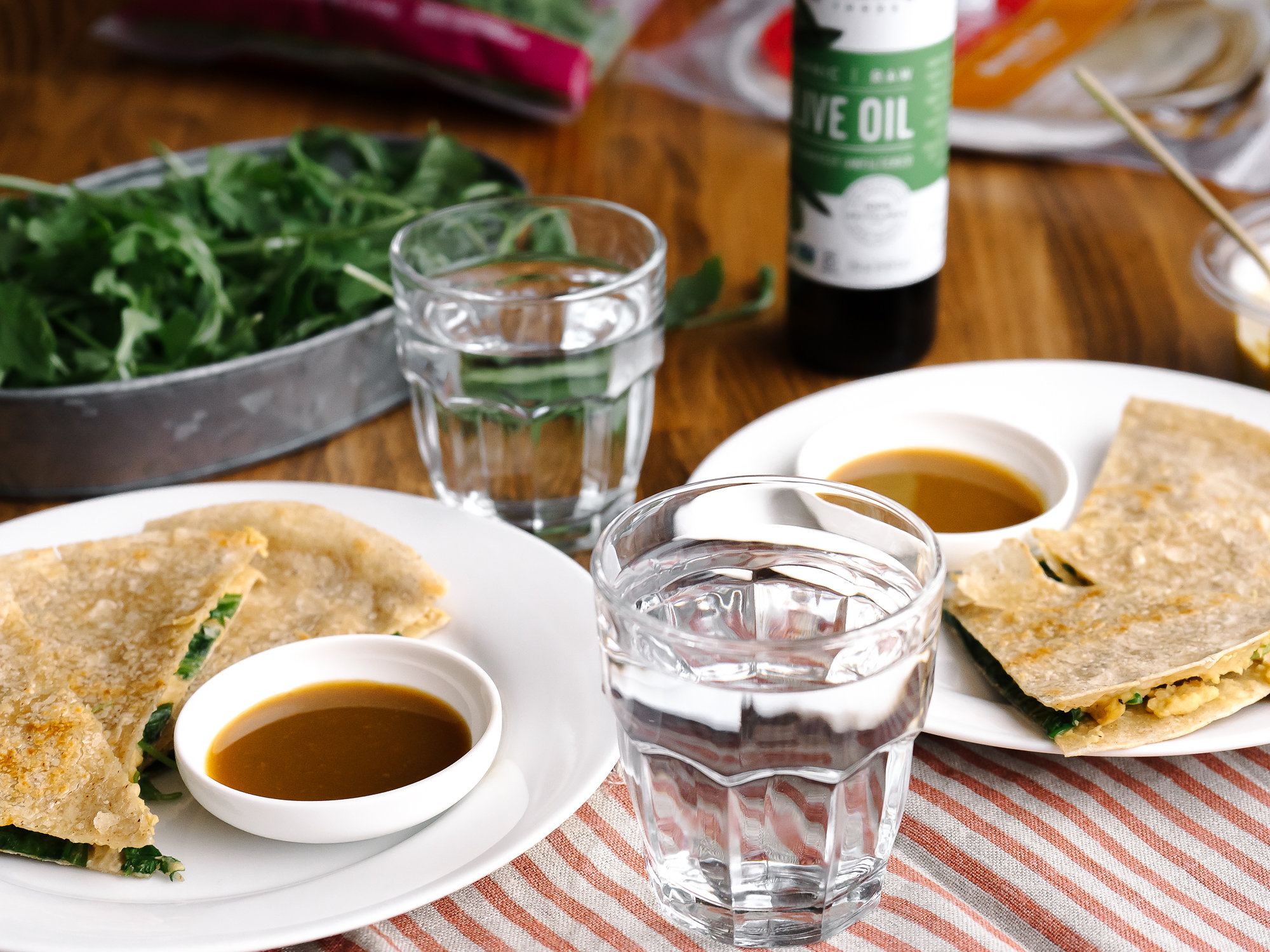 Vegetarian Quesadilla With Sweet & Tangy Dipping Sauce