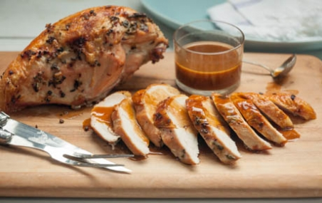 Roast Turkey Breast with Apple Cider Gravy