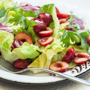 Mixed Lettuces with Spiced Cherry Vinaigrette