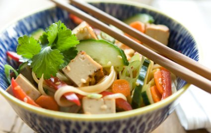 Tofu and Sesame Noodle Salad