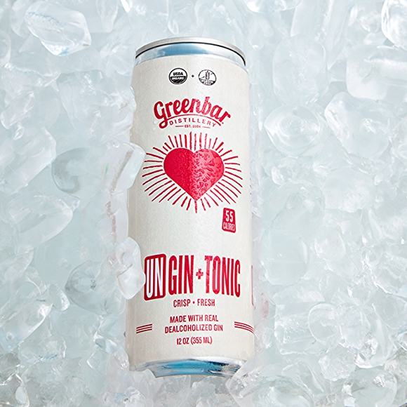 Greenbar Distillery UnGin + Tonic canned cocktail drink