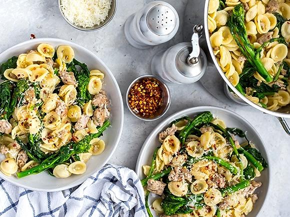 Orecchiette Pasta with Italian Sausage and Broccoli Rabe recipe