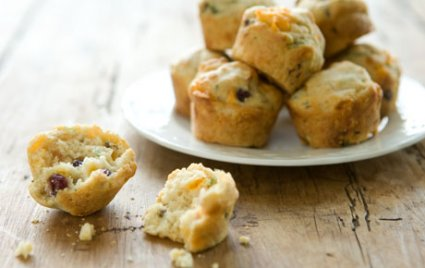 Savory Cheese, Cranberry and Herb Mini Muffins