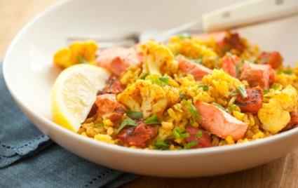 Wild Coho Salmon with Sunshine Rice
