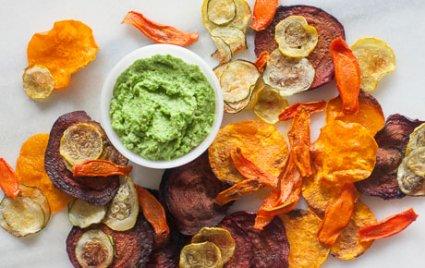 Homemade Veggie Chips and Dip Recipe
