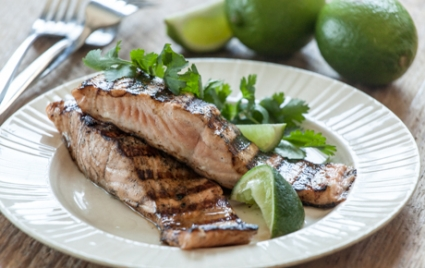 Yogurt-Marinated Grilled Salmon