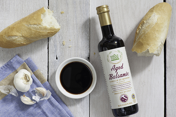 bottle of aged balsamic vinegar