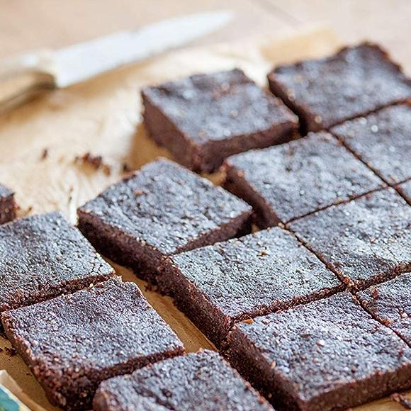 Raw walnut brownies recipe image