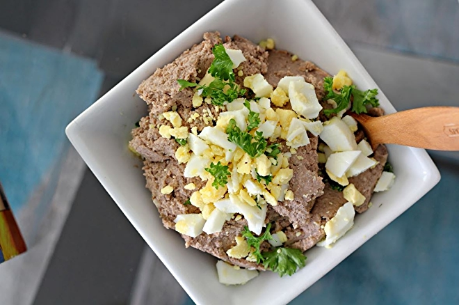"Vegetarian Chopped ""Liver."" Photo by Amy Kritzer 