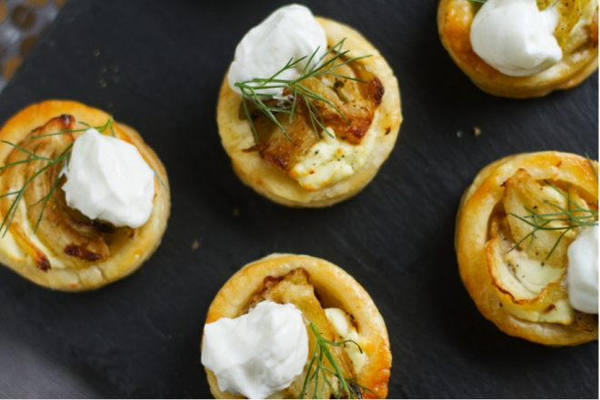 Fennel Puff Pastry Bites with Mascarpone – Aida Mollenkamp