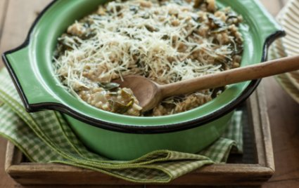 Savory Oats with Hearty Greens