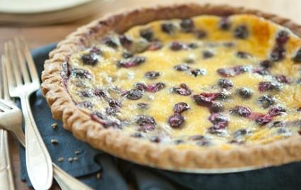 Blueberry Sour Cream Pie