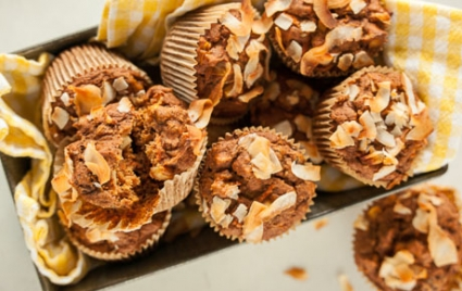 Lightened Whole Grain Morning Glory Muffins